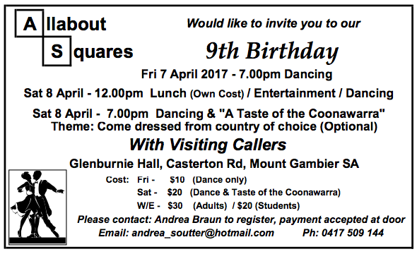 2016  mt gambier 9th Birthday Ad 07.04.17