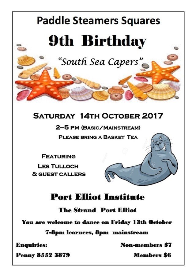 2017 SA paddle steamer 9th Birthday