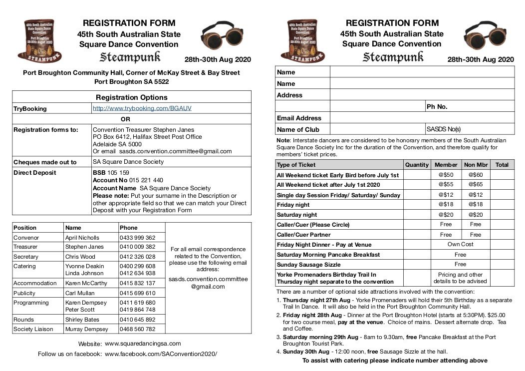 Registration form A5 booklet page 2